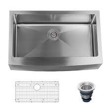 Farmhouse 33 Single Basin Stainless Steel Kitchen Sink W A