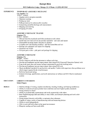Resume Examples Mechanic Assembly Mechanic Resume Samples Velvet Jobs 15