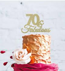 70th Birthday Cake Topper 70 Fabulous Cake Topper Glittery