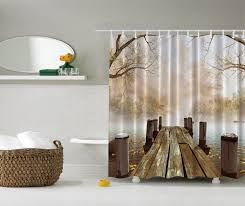 brown fabric shower curtains. Fabric Shower Curtain Liner Black Simple Cab White Brick Wall Red Curtains Brown Color