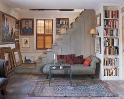 Basement Apartment Design Stunning A Bookish Artistic Lair Are Those Steps To A Loft From Allison
