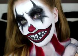 scary clown makeup ideas tutorial 2017