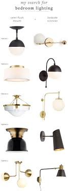 matte black and brass bedroom lighting fixtures round up flush mount semi
