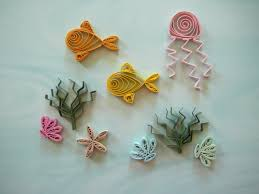 paper quilled under water sea life embellishment for card 🔎zoom