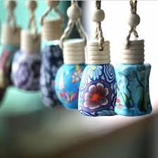 How To Decorate Perfume Bottles 100 Ml Car Hang Decoration Ceramic Essence Oil Perfume Bottle Hang 34