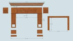 diy wooden fireplace surround mantel shelf stone