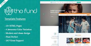 Modern Website Templates Best The Fund Charity Crowdfunding HTML48 Template By IGlyphic ThemeForest