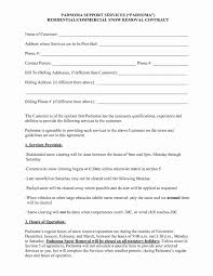 25 Residential Snow Removal Contract Template Paulclymer