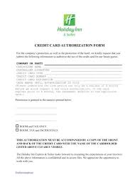 Credit Card On File Form Templates Credit Card On File Authorization Form Template Mytv Pw