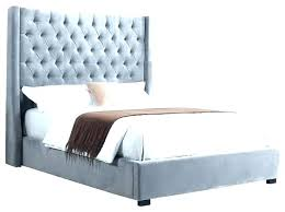 queen fabric bed frame tufted upholstered high profile kensington size in grey tufted bed frame n66