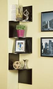 wall furniture shelves. Amazon.com: Kings Brand Espresso Finish Corner Zig Zag Hanging Wall Shelf: Home \u0026 Kitchen Furniture Shelves