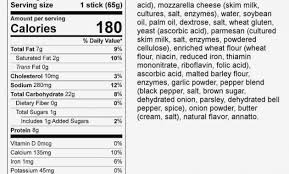 mozzarella cheese nutrition label ice string cheese nutrition facts label