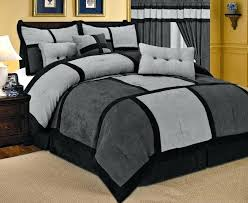 microsuede bedding sets casual bedroom decoration with micro suede king size bed gray black micro suede