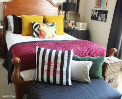 Bed Linen Decorating Fall Bed Linen Refresh Confettistyle Pillow Decorating Tips Haammss