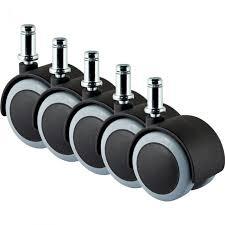 slipstick rubber caster wheels pack of 5