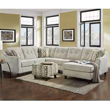 simmons albany sectional. sydney cream chenille 3 piece sectional simmons albany