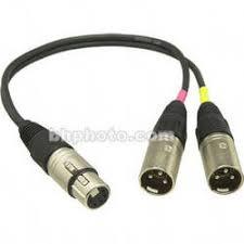 sennheiser acs5 5 pin xlr y cable acs5 b h photo video