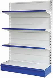 wall shelves supermarket gondola shelving image
