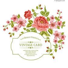 4 Designer Floral Card Design Vector