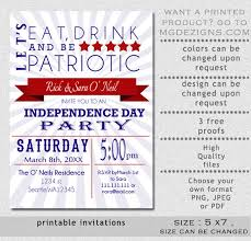 patriotic invitations templates printable eat drink and be patriotic red white retro invitation