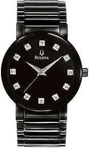 black diamond watch mens bulova black diamond watch