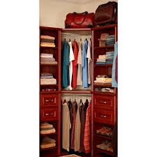 closetmaid impressions nickel corner rounder closet rod white shelf kit with trim dark cherry the wall plans chrome ladder storage ideas bathroom s