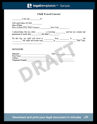 child travel with one parent consent form child support modification create download a free template