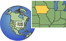 Current local time in <b>Iowa</b>, United States
