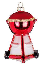 Magic Christbaumschmuck Weihnachtskugeln Figuren Glas Mundgeblasen Weihnachtskugeln Weihnachtsschmuck Baumkugeln Baumschmuck Grill Rot 9cm