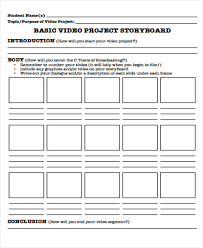 Project Storyboard Free Sample Example Format Download. Story Board ...