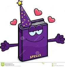 cartoon spell book hug stock vector ilration of hearts 47815976