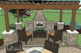 fireplace ideas patio with covered