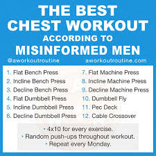 an exle of the worst chest workout