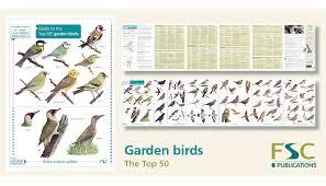 Fsc Fold Out Id Chart Top 50 Garden Birds Chart