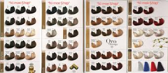 Fanola Colour Chart Oro Therapy Hair Color Chart Best Picture Of Chart