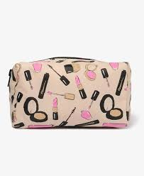 bag lipstick print cosmetic pouch forever21 1031664244