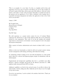 Cover Letter Sample For Business Administration Graduate