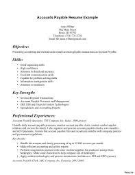Objective For Accounts Payable Resume Accounts Payable Resume Example Accounts Payable Resume Format India 9