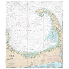 Island Girl Ma Cape Cod Ma Nautical Chart Fleece Throw Blanket