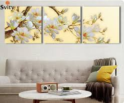 3 panel modern 3d white orchid flower painting on canvas wall art cuadros flowers picture home on 3d white flower wall art with aliexpress buy 3 panel modern 3d white orchid flower painting