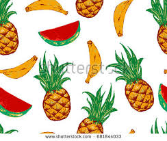 pineapple and watermelon background. tropic seamless pattern with pineapple, watermelon, banana. vector background fashion patches and pineapple watermelon r