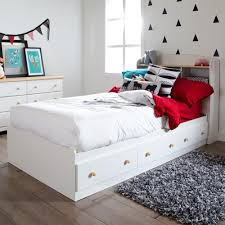 White full storage bed Cheap South Shore Summertime 3drawer Twinsize Storage Bed In Pure White3263080 The Home Depot The Home Depot South Shore Summertime 3drawer Twinsize Storage Bed In Pure White