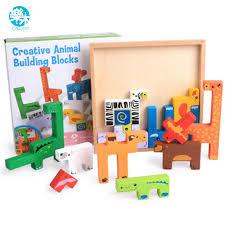 <b>Baby</b> Wooden <b>Toy Educational</b> Elephant/<b>Camel</b> Balancing Blocks ...