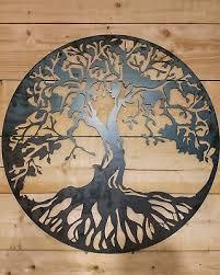 premium large celtic tree of life metal