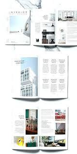 Brochure Template For Word 2007 Minimal Interior Magazine Brochure Template Portfolio