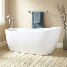 ... Bathtubs Idea, Freestanding Tub With Jets Jacuzzi Bathtubs Brushed  Chrome Faucet And Hand Shower For ...