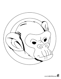 Monkey S Head Coloring Sheet More Jungle Animals Coloring Pages