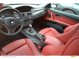 Coupe Series black and pink bmw : Coral Red/Black Dakota Leather Interior 2009 BMW 3 Series 335i ...