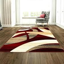 brown red rug