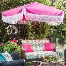 glam diy fringe patio umbrella no